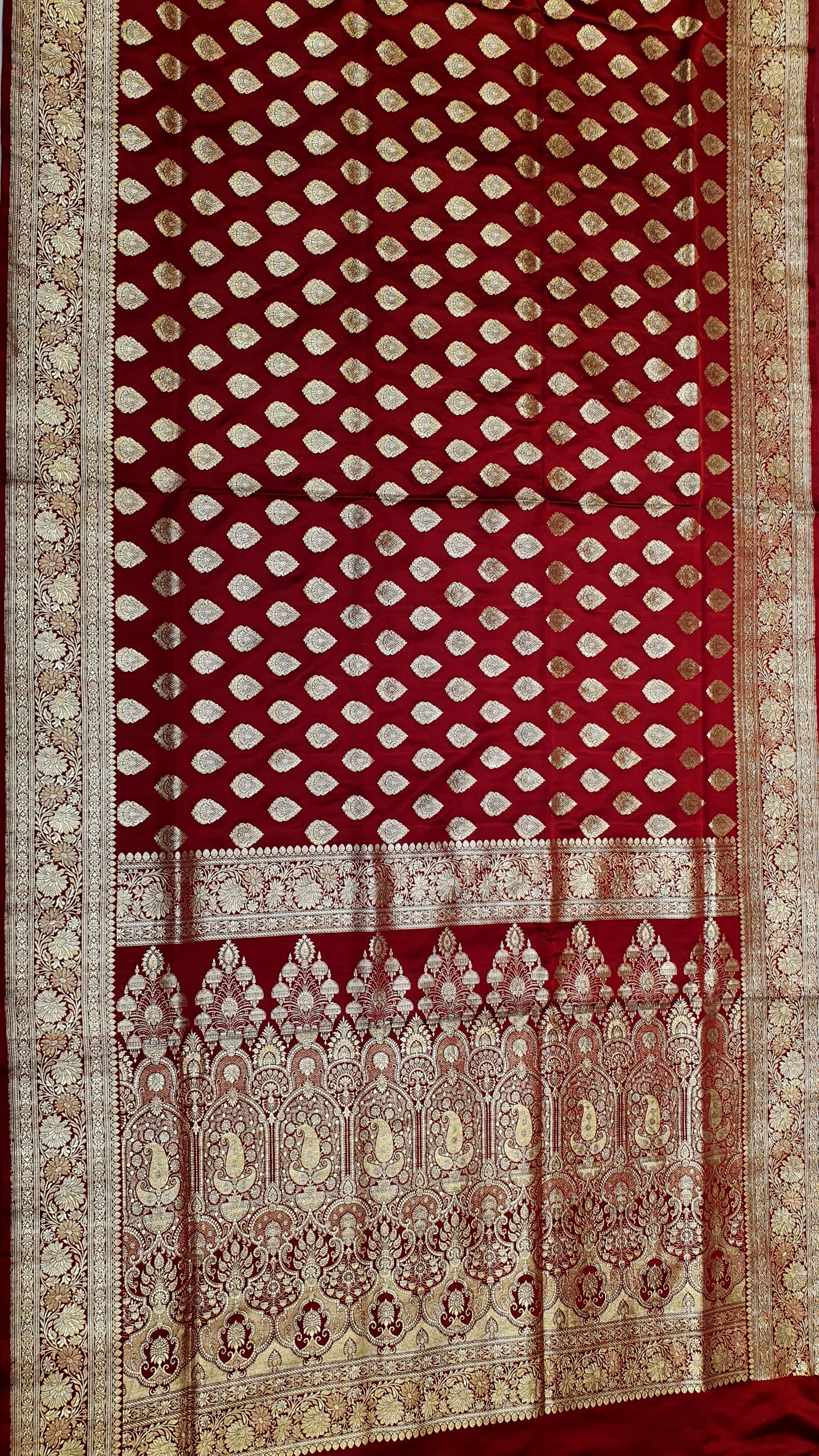 Pure Silk Banarasi Katan Saree With Real Zari Work
