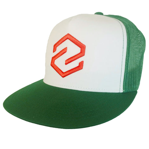 Z Logo Navy Green Trucker