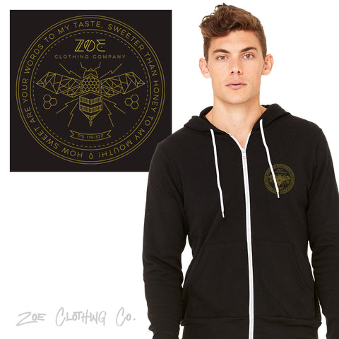 Sweet Honey Unisex Zippered Hoody