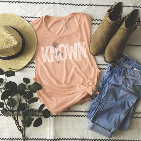 Known Flowy Scoop Muscle Tank