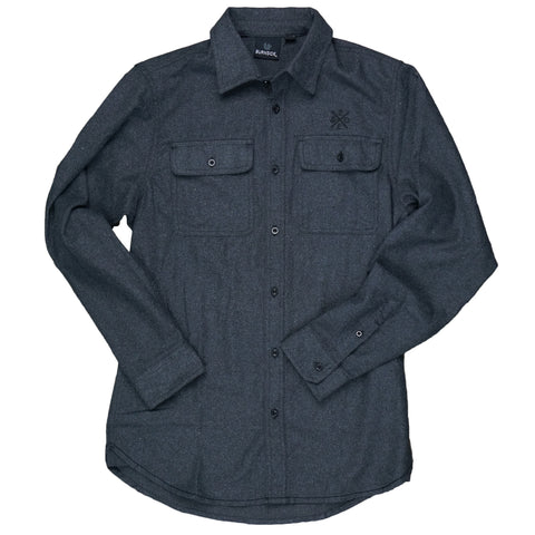 Button Up Long Sleeve Charcoal