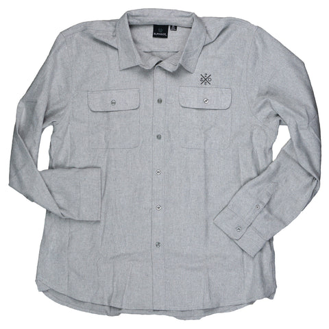 Button Up Long Sleeve Stone