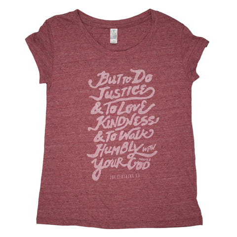 Micah 6:8 Shirt (Ladies)