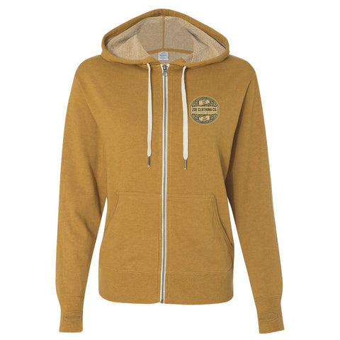 Vintage Golden Zippered Hoody