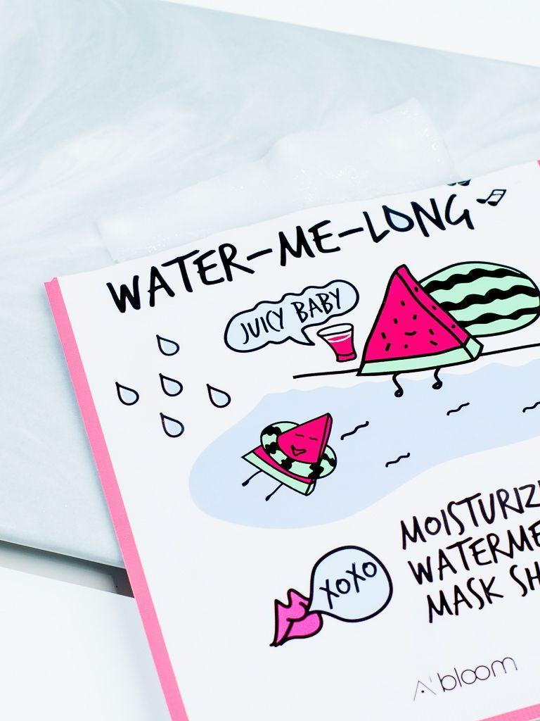 Water-Me-Long Moisturizing Watermelon Mask (10 Sheets) A'BLOOM