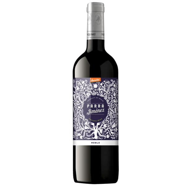 Parra Jimenez Roble DO Red wine 75 cl 13.5% Alcohol.Organic, Biodynamic and Demeter certified. - thebiodynamic.store