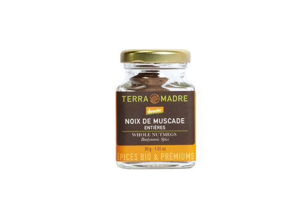 Nutmeg,whole 30gr. Organic, Biodynamic and Demeter certified.