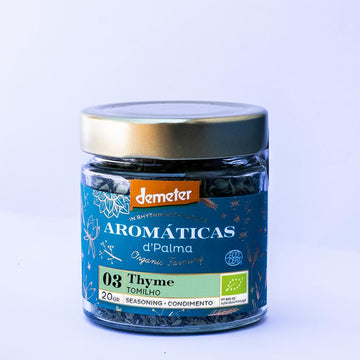 Aromaticas d'palma Thyme-Seasoning. Organic, Biodynamic and Demeter certified.