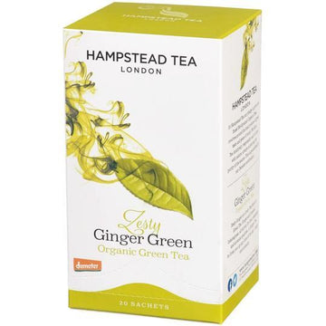 Hampstead Tea Ginger Green Tea - Organic, Biodynamic and Demeter Certified