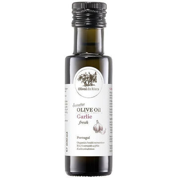 Olival da Risca Garlic flavoured Olive oil 100ml. Organic, Biodynamic and Demeter certified.