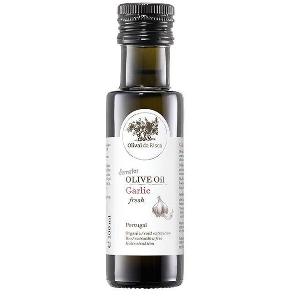 Olival Da Risca Garlic Flavoured Olive Oil 100ml - Organic, Biodynamic and Demeter Certified brought to you by TheBiodynamic.store