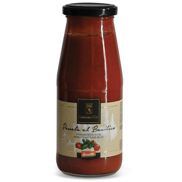 Giancarlo Ceci Passata With Basil 410g - Organic, Biodynamic and Demeter Certified brought to you by TheBiodynamic.store