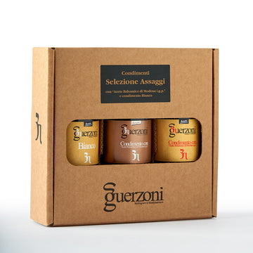 Guerzoni Assaggio Selection Of 3 Vinegars - Organic, Biodynamic and Demeter Certified