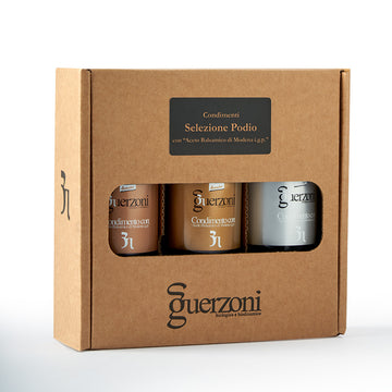 Guerzoni Podio Selection Of 3 Vinegars - Organic, Biodynamic and Demeter Certified