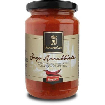 Giancarlo Ceci Tomato Sauce With Chilli 330g - Organic, Biodynamic and Demeter Certified