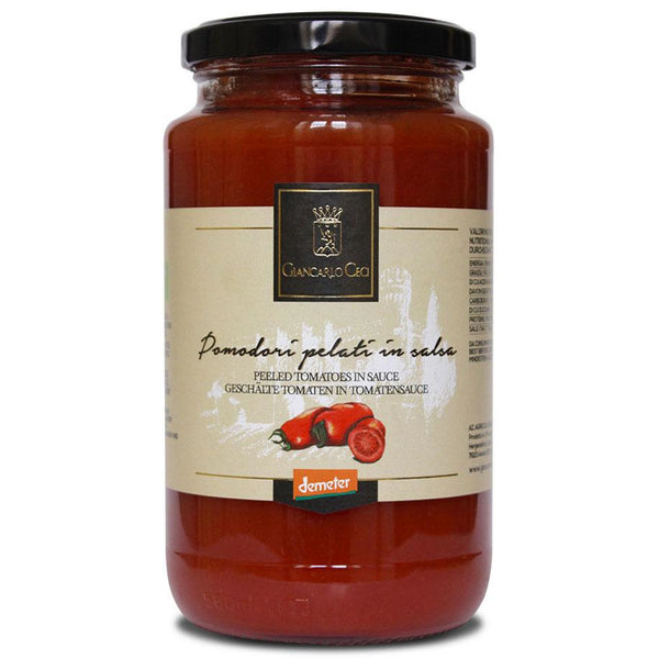 Giancarlo Ceci Peeled Tomatoes In Sauce 530g - Organic, Biodynamic and Demeter Certified brought to you by TheBiodynamic.store