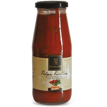 Giancarlo Ceci Tomato Pulp With Basil And Oregano 410g - Organic, Biodynamic and Demeter Certified