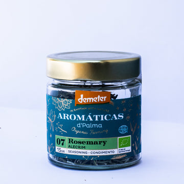 Aromaticas d'palma Rosemary-Seasoning. Organic, Biodynamic and Demeter certified.