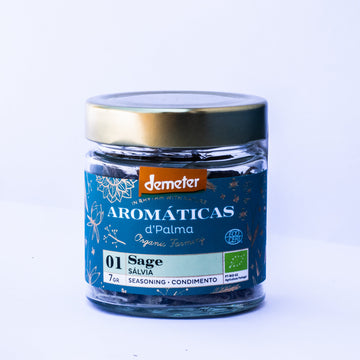 Aromaticas d'palma Sage-Seasoning. Organic, Biodynamic and Demeter certified.
