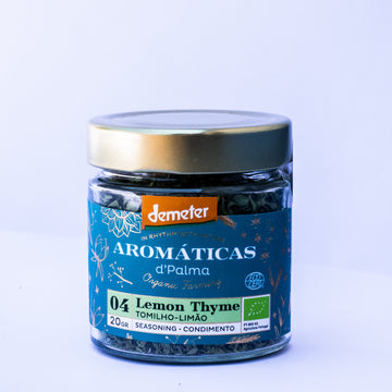 Aromaticas d'palma Lemon Thyme - Seasoning. Organic, Biodynamic and Demeter certified.