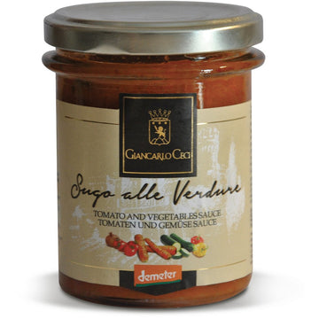 Giancarlo Ceci Tomato And Vegetable Sauce 280g - Organic, Biodynamic and Demeter Certified