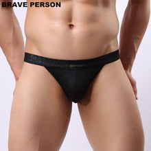 Load image into Gallery viewer, BRAVE PERSON Men Sexy Lace Transparent Personal Briefs Bikini G string Thong Jocks Tanga Underwear Shorts Exotic T back B1138 on Aliexpress.com | Alibaba Group
