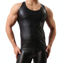 Load image into Gallery viewer, The Beef - Mens Sexy Tank Top Faux Leather