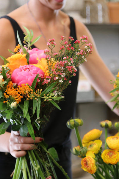 "Class: April 20th 2017, Flower arranging: ""Low and Lush"" (The basics,   beginners)"