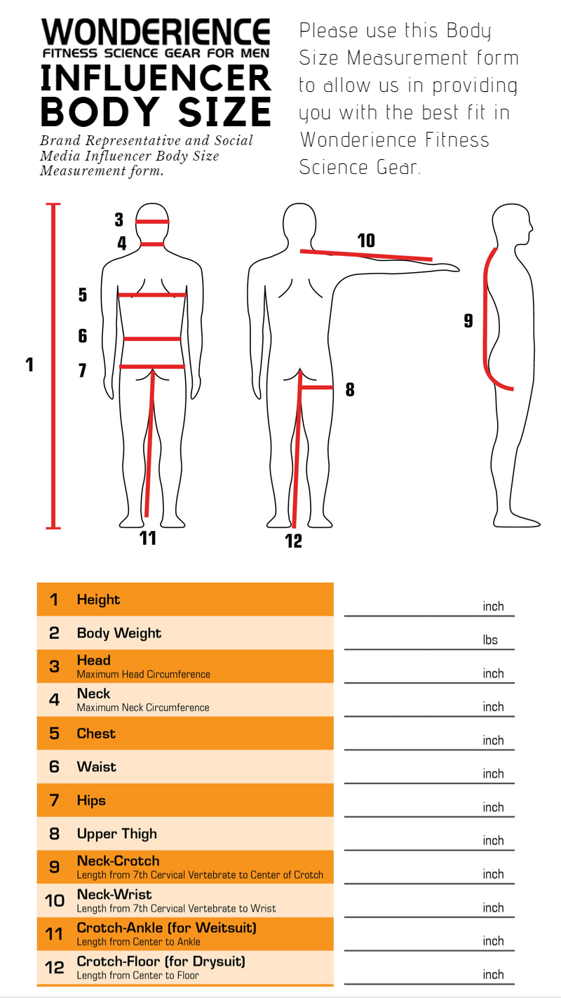 Influencer Body Size Guide
