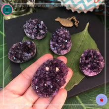 Load image into Gallery viewer, Uruguayan Deep Purple Amethyst Cluster Geode - Harness Merece by GTG