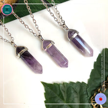 Load image into Gallery viewer, Double-terminated Amethyst Pendant Silver Necklace - Harness Merece by GTG
