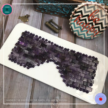 Load image into Gallery viewer, Anti-aging Hand-woven Amethyst Eye Mask - Harness Merece by GTG