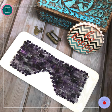 Anti-aging Hand-woven Amethyst Eye Mask - Harness Merece by GTG