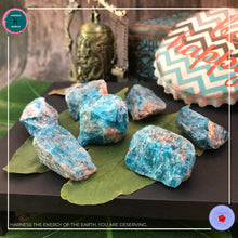 Load image into Gallery viewer, Raw Blue Apatite Stone for Manifestation - Harness Merece by GTG