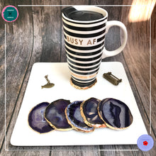 Load image into Gallery viewer, Hand-cut Brazilian Purple Agate Coaster - Harness Merece by GTG
