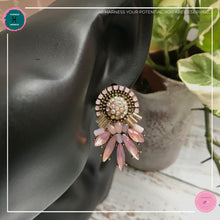 Load image into Gallery viewer, Luxurious Retro Stud Earrings in Blush Pink - Harness Merece by GTG