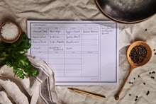 Load image into Gallery viewer, a4 weekly meal planner (50 sheets)