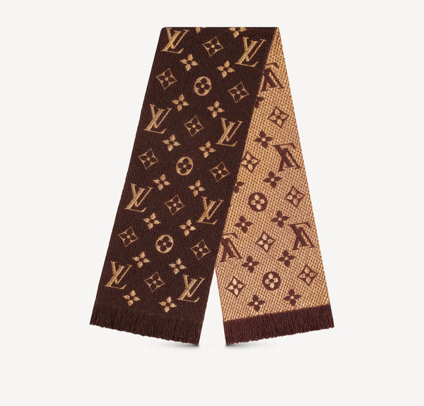 Louis Vuitton Brown Logomania Shine Scarf