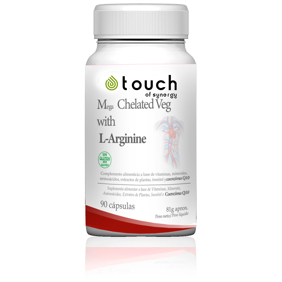 Mega Chelated Veg with L-Arginine  - 90 capsules