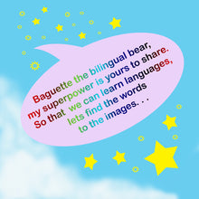 Load image into Gallery viewer, AWARD WINNING Baguette bear® book - Launch your child into bilingual learning whilst having fun!!