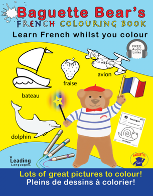 BAGUETTE BEARS FRENCH COLOURING BOOK