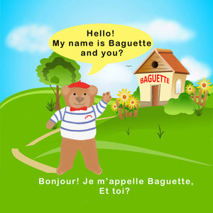 AWARD WINNING Baguette bear® book - Launch your child into bilingual learning whilst having fun!!