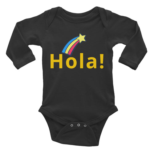 Hola! Baby Long Sleeve Bodysuit