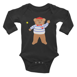 Baguette Bear ® French Infant Long Sleeve Bodysuit