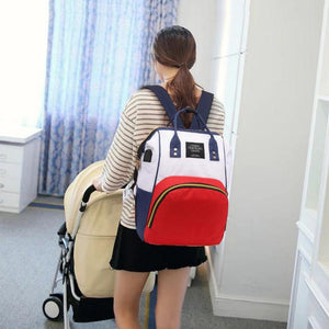 The Parisian, nanny bag with Integral USB charger,  insulated bottle holder & Stroller hooks