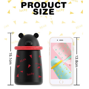 Thermal Bear Bottle - Eco friendly,Stainless Steel Vacuum Flask Insulated Water Bottle  300ml