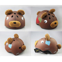 Load image into Gallery viewer, Children's Bearhead Bicycle helmet