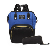 Load image into Gallery viewer, The Parisian, nanny bag with Integral USB charger,  insulated bottle holder & Stroller hooks