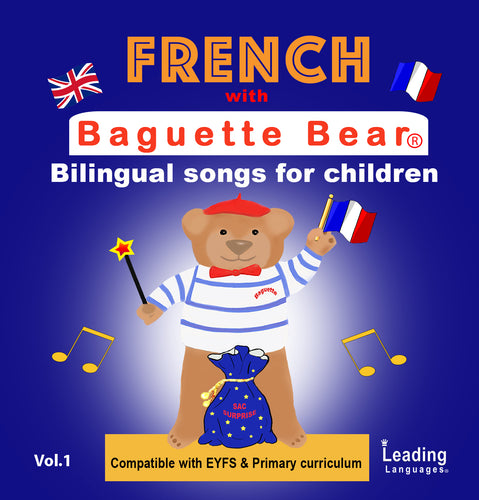 DIGITAL DOWNLOAD - BAGUETTE BEARS BILINGUAL SONGS
