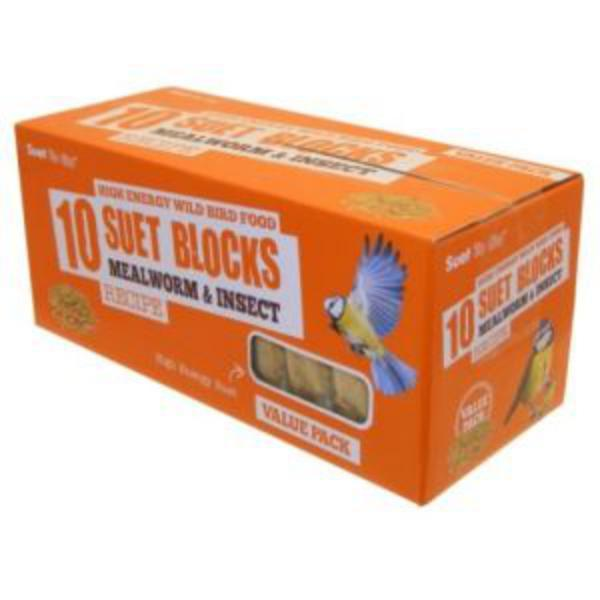 Suet To Go Mealworm & Insect Block Value Pack